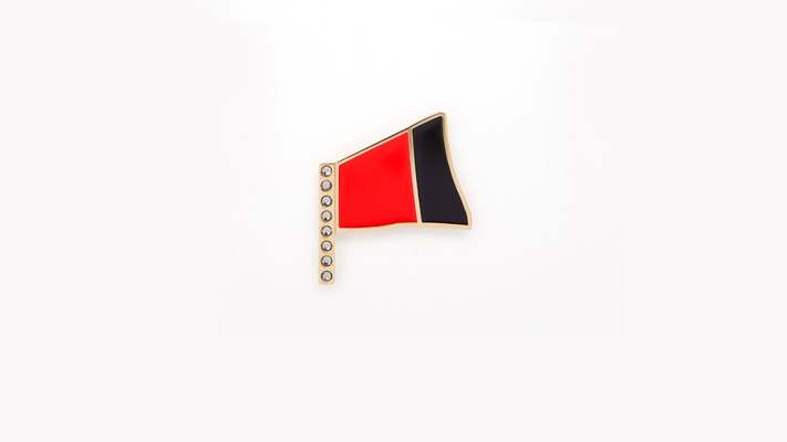 BANNER PIN 2 RED/BLACK