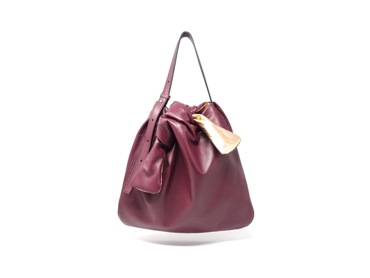 SOFT MOLA TOTE M BORDEAUX/METAL